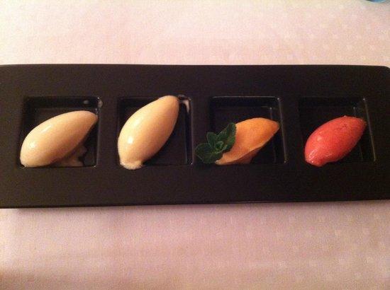 Auberge de Vouvry:                   sorbet hors saison..