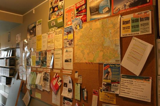 Kiwi House:                   notice board that you can look for job or language and others