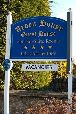 Arden House:                   Look for the sign