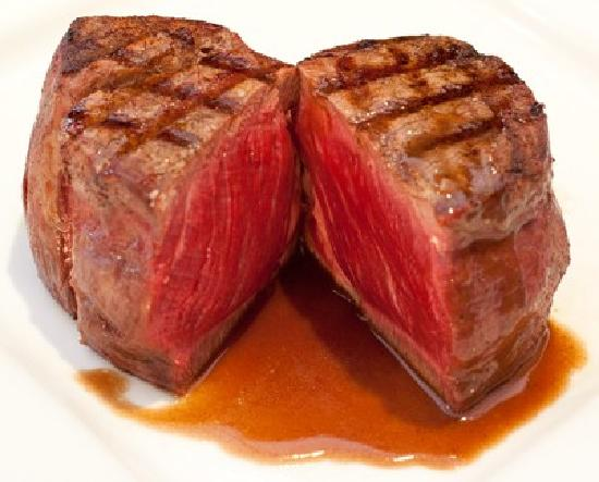 Croydon Steak House: a rare cooked fillet