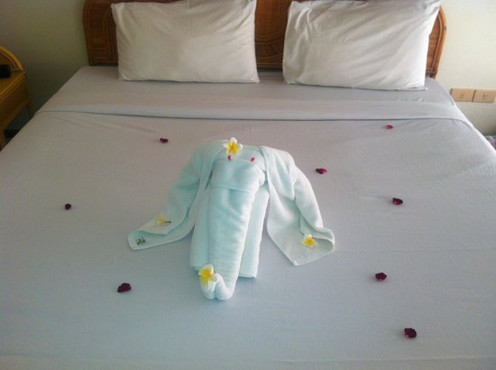 Palm Island Hotel:                                     Le lit