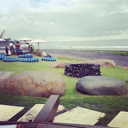 Komune Resort, Keramas Beach Bali:                   view from resturant