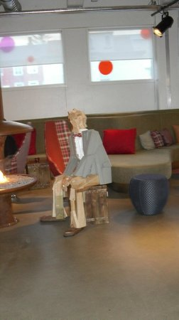 Icelandair Hotel Reykjavik Marina:                   The wood man by the fire