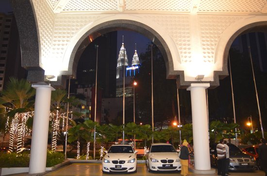 Hotel Istana:                   View from just outside the lobby                 