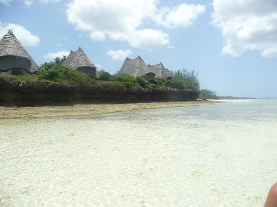 Unguja Lodge from the beach
