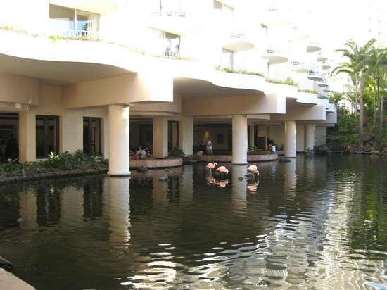 The Westin Maui Resort & Spa:                   the lagoon in front of the lobby