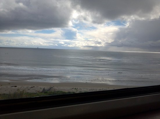 Coast Starlight:                   The Pacific from the train