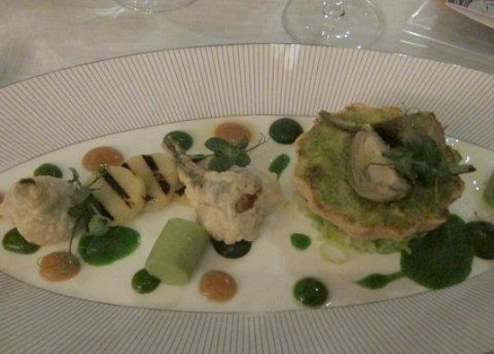 Cliff House Hotel:                   Vegetarian main course