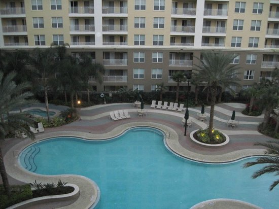 Vacation Village at Parkway:                   View of pool from room.