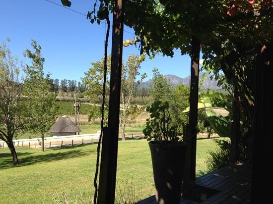 L'Avenir Country Lodge:                   View to Simonsberg