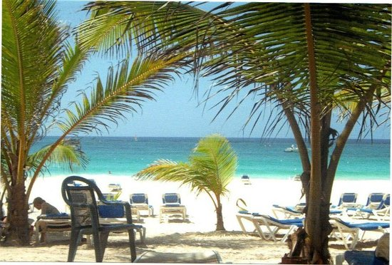 Barcelo Punta Cana:                   quiet stretch of beach
