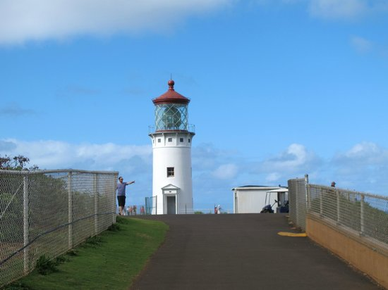 Kilauea Point National Wildlife Refuge:                   Light house under restoration