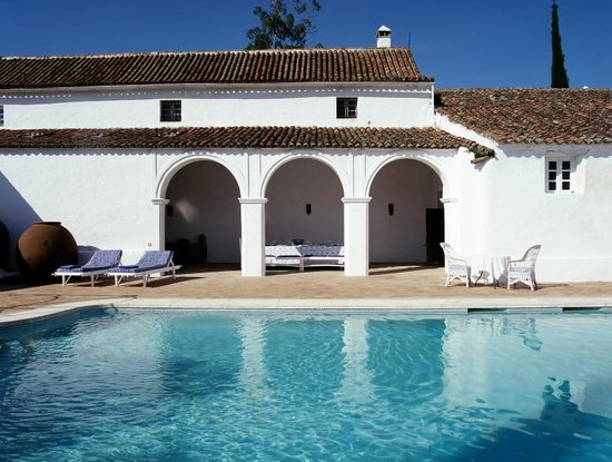 Cazalla de la Sierra, Spain: pool view