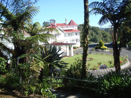 Waitomo Caves Hotel:                   View from small garden