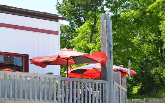 Edgewater Restaurant:                   The outside deck of the restaurant