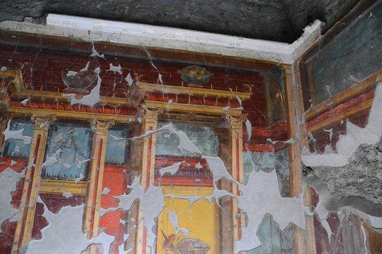 Oplonti Villa di Poppea Ruins:                   affreschi