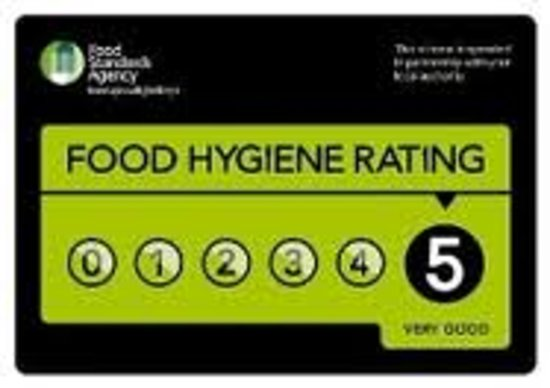 The King's Head Hotel: Five star hygiene rating