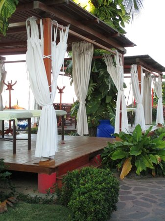 Royal Decameron Complex:                   Massage cabanas beachfront