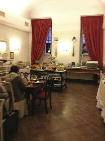 Hotel Adriano :                   buffet petit dej'