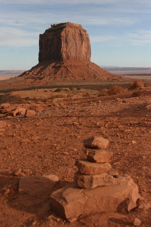 Monument Valley Navajo Tribal Park:                   Aother view of Merrick Butte.