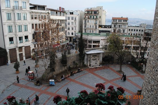 Anemon Galata Hotel:                                     The square below our window