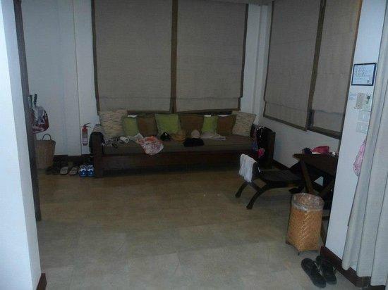 Peace Resort:                   sofa, doubled up as wardrobe