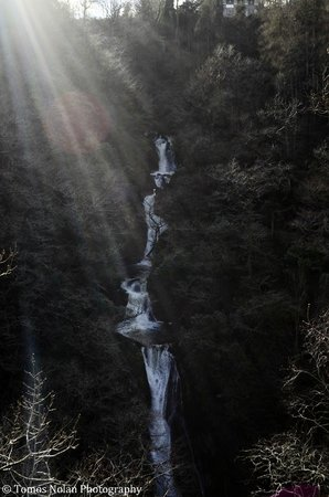 Devil's Bridge Falls:                   Sunlight over the falls