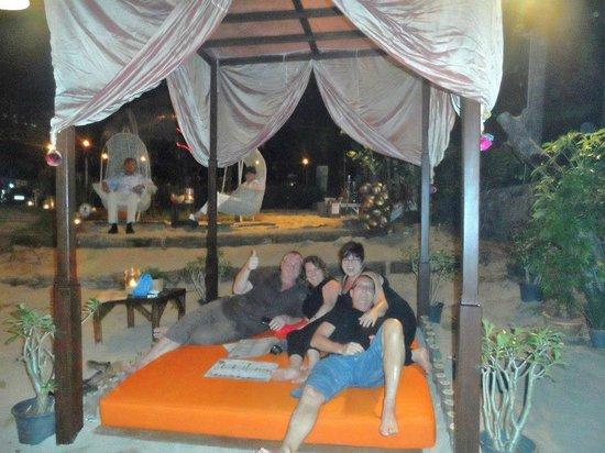 Peace Resort:                   beds at the beach bar
