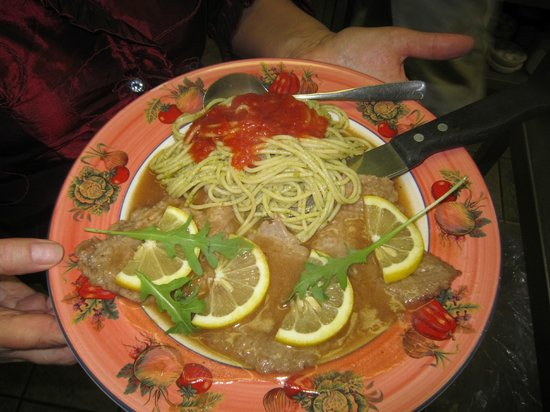 Restaurant Baffetto De Roma : Veal piccata with lemon, simply delicious!