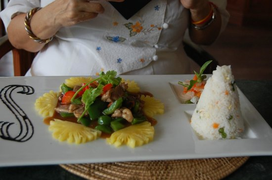 Cassia Restaurant:                   Asian/Cambodian theme entree