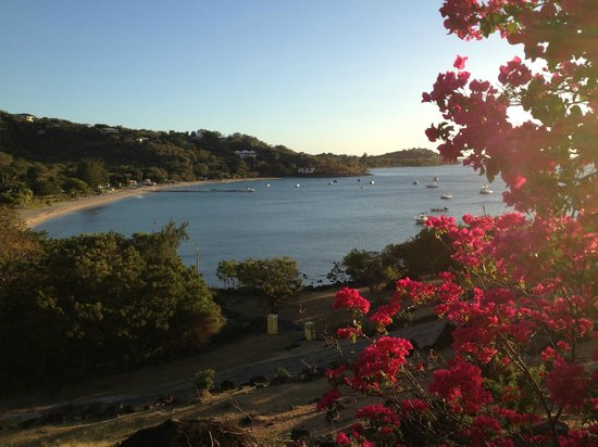 Hurricane Cove Bungalows :                   View of Oualie Beach, from Hurricane Cove