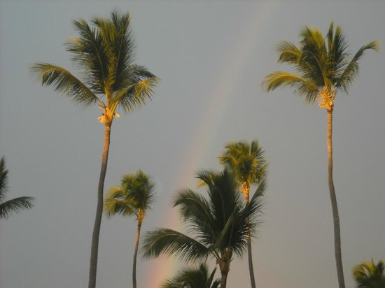 Be Live Collection Punta Cana:                   Beautiful rainbow after a 15 min quick rain shower