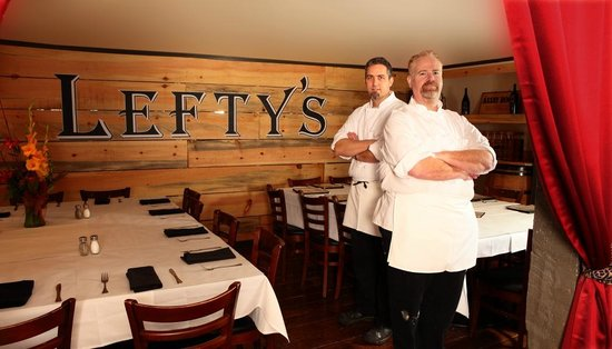 Lefty's Grill: Left-handed chefs, Chris and John