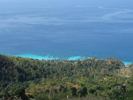 Kokoye Beach:                   View on the hike down the mountain