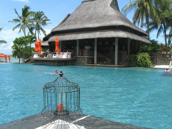 Constance Prince Maurice:                                     Pool looking at Bar and swim up bar to right.
