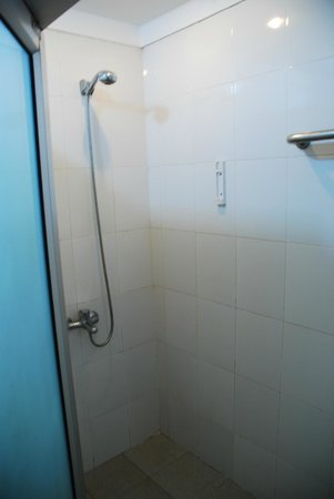 The Siem Reap Hostel:                   Simple shower - included towels