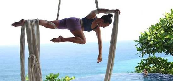 Anamaya Resort & Retreat Center: Aerial silk teacher Ana Prada
