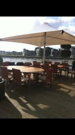 Rafayel on the Left Bank - Hotel & Spa:                                     Outside dining with a perfect view