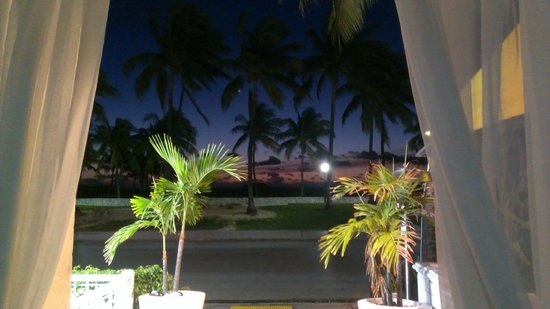 Casa Grande Suite Hotel of South Beach:                   Sunrise from the front doors of the hotel