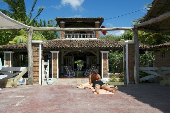 Popoyo Beach Hostel:                                     Hostel from the beach