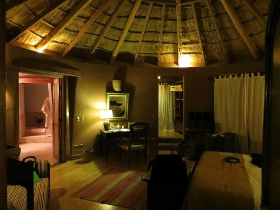 Awasi Atacama - Relais & Chateaux:                   Our room at night (also had indoor and outdoor showers, plus a tub)