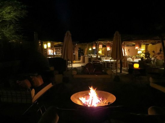 Awasi Atacama - Relais & Chateaux:                   Common area and restaurant in evening
