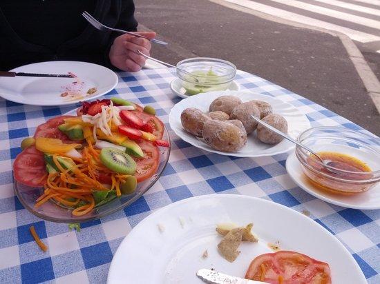 Casa Africa - Bar Playa:                   Salad & patatas with mojo sauce