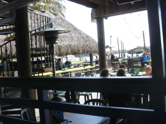 Old Key Lime House:                   The outdoor seating area viewed from the dining room