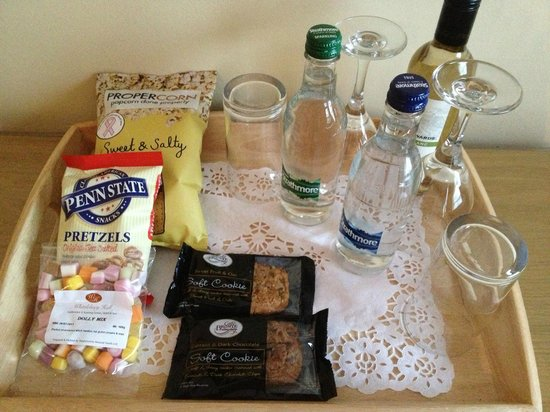 Whittlebury Hall:                   The extra treats we got for upgrading to club room