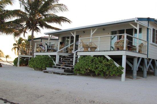 Turneffe Flats:                   Beach Front Cabanas