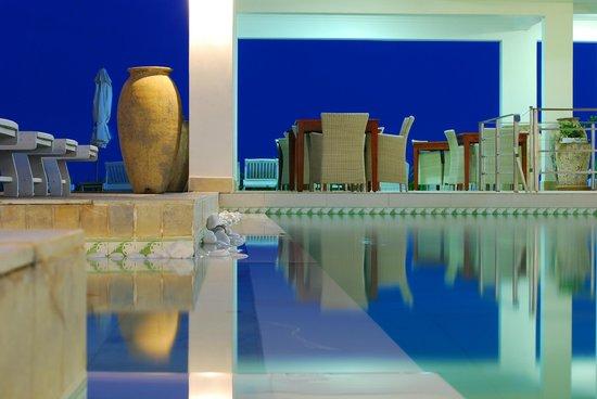 Shades Resort:                   Pool at dusk