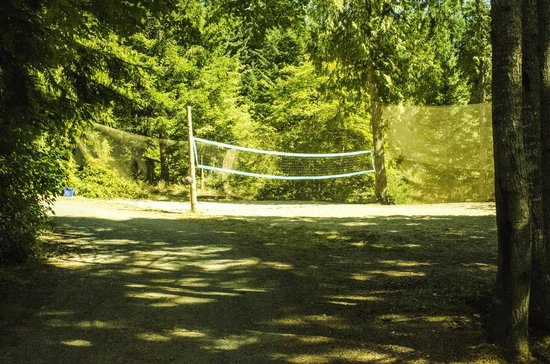 Strathcona Park Lodge & Outdoor Education Centre : Volleyball court.