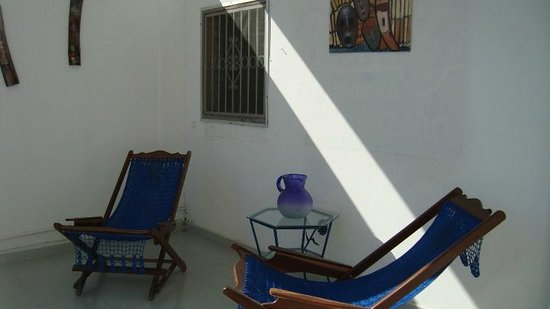 La Posada Chetumal Hostel:                   balcony