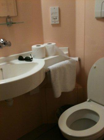 Tudor Court Hotel:                   baño muy pequeño pero suficiente